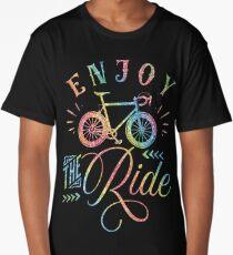 Enjoy The Ride Faux Rainbow Glitter Long T-Shirt
