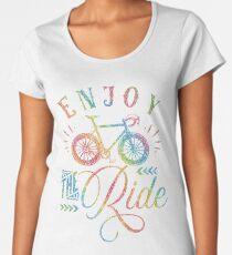 Enjoy The Ride Faux Rainbow Glitter Women's Premium T-Shirt