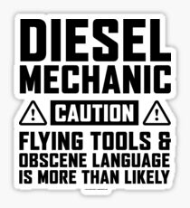 Diesel Mechanic Flying Tools Sticker