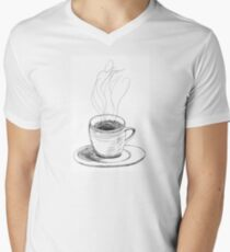 Coffee in a demitasse Mens V-Neck T-Shirt
