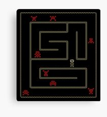 Old school labyrinth video game Canvas Print
