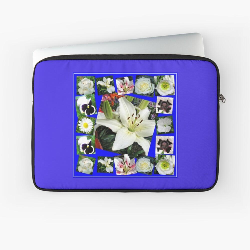 White Delight - Summer Flowers Collage Laptoptasche