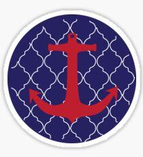Red Anchor Sticker