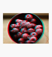 Psychedelic 3D Cherry Fruit Photographic Print