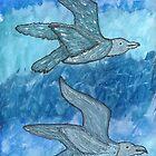 Gulls In Flight by Denise Davis