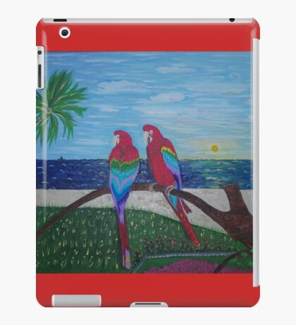 Parrots Chatting by the Sea iPad Case/Skin