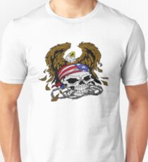 American Skull and Eagle Unisex T-Shirt