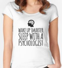 Sleep With a Psychologist Women's Fitted Scoop T-Shirt