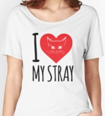 I love my stray cat version Women's Relaxed Fit T-Shirt