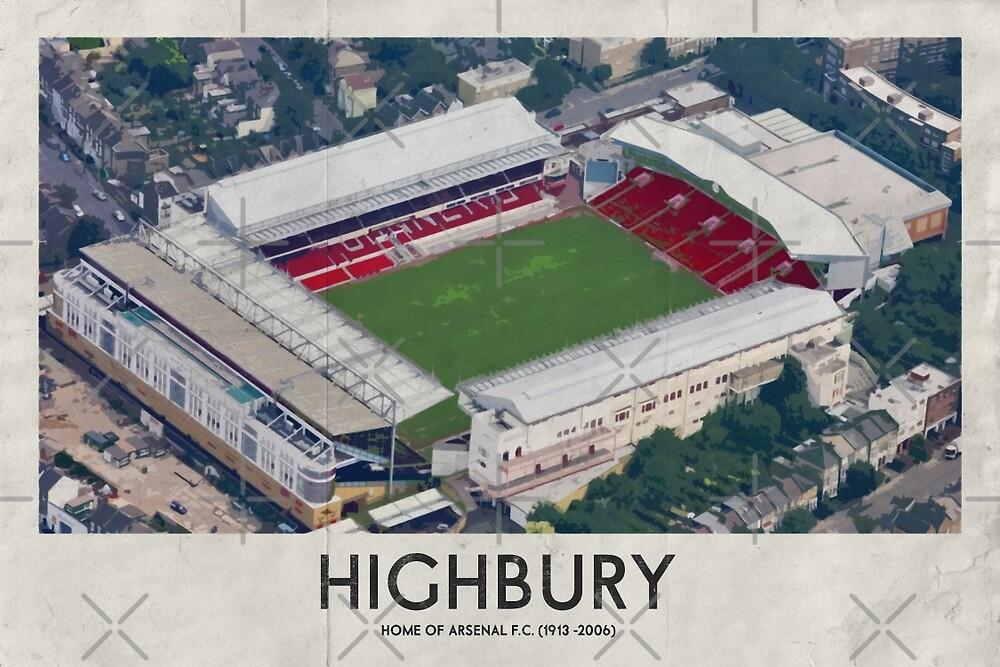 Vintage Football Grounds - Highbury (Arsenal FC) by twelfthman