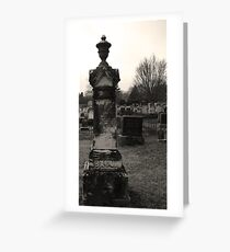 Gravestone Greeting Card
