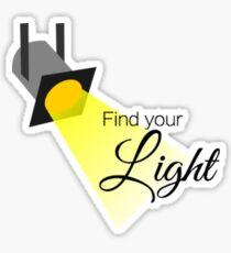 Find Your Light Sticker