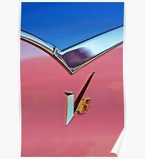 1955 Dodge Royal Lancer V8 Emblem -0639c Poster