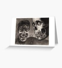 Evil Dead II - Bloody Ash with Skull Horror Art Greeting Card