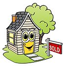 House For Sale Cartoon by Graphxpro