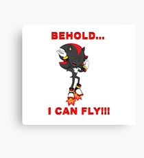BEHOLD...I CAN FLY!!! Canvas Print