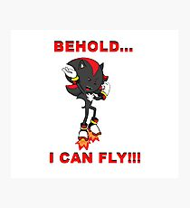 BEHOLD...I CAN FLY!!! Photographic Print