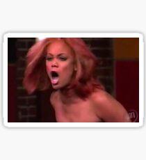 Tyra Banks Screaming Meme Sticker