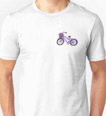 purple flower cruiser bike Unisex T-Shirt