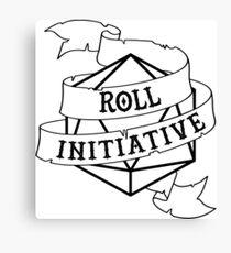 Roll Initiative - Black Canvas Print