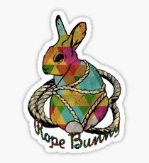 """""""Rope Bunny"""" Shibari Japanese Rope Bondage (Color) Sticker"""