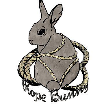 """""""Rope Bunny"""" Shibari Japanese Rope Bondage (Gray) by boundlesstees"""