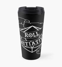 Roll Initiative - white Travel Mug