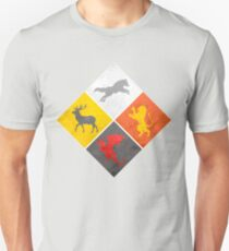 Weathered Wolf Lion Dragon and Deer Unisex T-Shirt