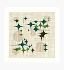 Eames Era Starbursts and Globes 1 (bkgrnd) Art Print