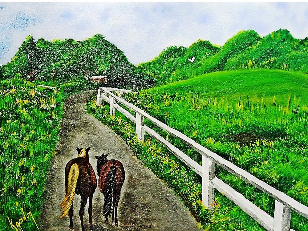 Just a Couple of Asses...Down On Oko's Farm by WhiteDove Studio kj gordon