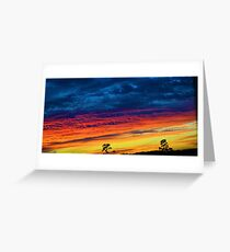 Fire Soaked Sky Greeting Card