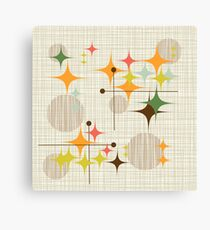 Eames Era Starbursts and Globes 3 (bkgrnd) Canvas Print