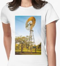 Windmills are gold in the Outback! Womens Fitted T-Shirt