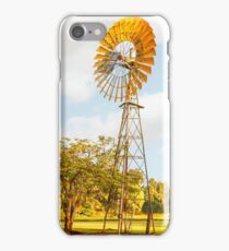 Windmills are gold in the Outback! iPhone Case/Skin