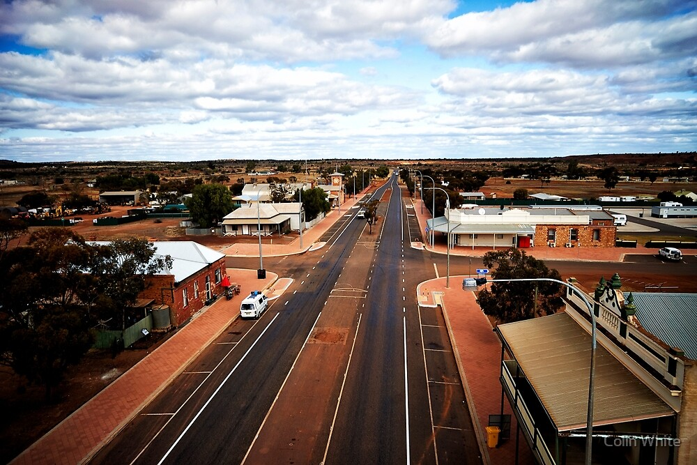 The main street of Menzies (photo Dave Carter) by Colin White