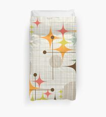Eames Era Starbursts and Globes 3 (bkgrnd) Duvet Cover