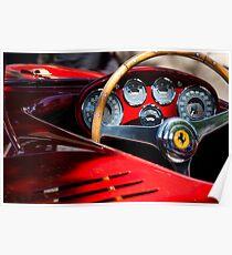 1954 Ferrari 500 Mondial Spyder Steering Wheel Emblem -2382c Poster