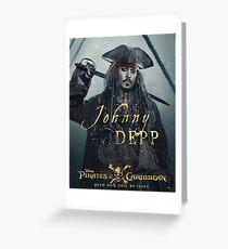 Johnny Depp Jack Greeting Card