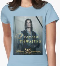 Brenton Thwaites pirates Womens Fitted T-Shirt