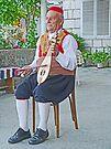 Croatian Musician by Graeme  Hyde