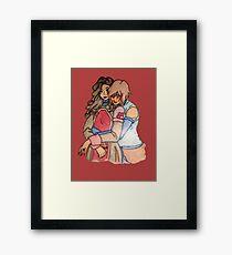 Korra and Asami Framed Print
