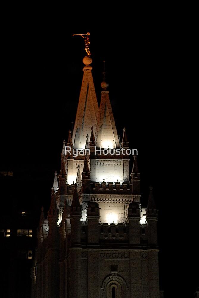 Salt Lake Temple at Night by Ryan Houston