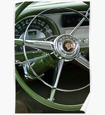 1953 Pontiac Lenkrad Emblem-0475c Poster