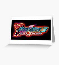Mega Man Star Force 3 Red Joker Greeting Card