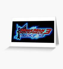 Mega Man Star Force 3 Black Ace Greeting Card