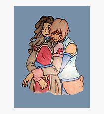 Korra and Asami 2 Photographic Print
