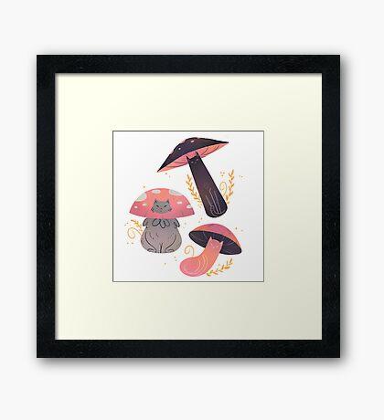 Meowshrooms Framed Print