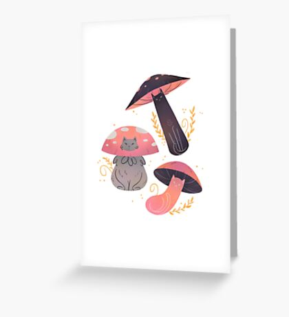 Meowshrooms Greeting Card