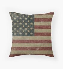 Vintage United Stages Flag Throw Pillow