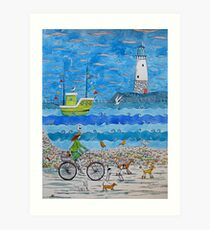 No dogs on the beach! Art Print